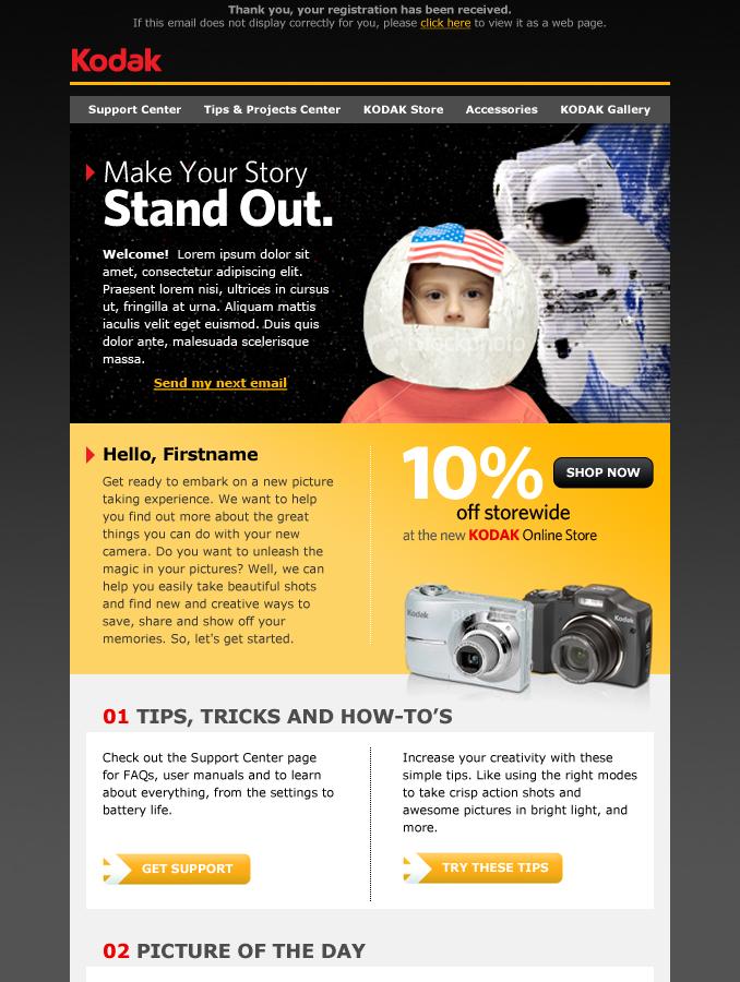 Kodak Email Campaign
