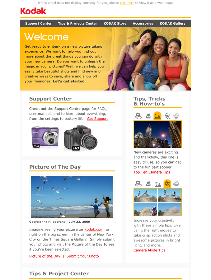 Kodak Email Campaign