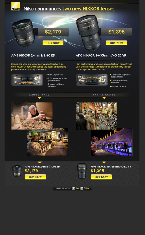 Nikon Email Campaign