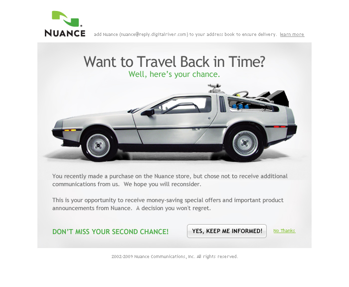 Nuance Email Campaign